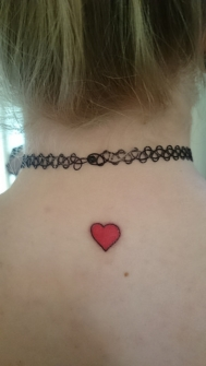 Murron heart tattoo