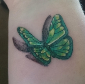 Shelly butterfly tattoo